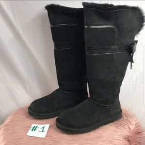 Black Genevieve UGG Boots Size 10
